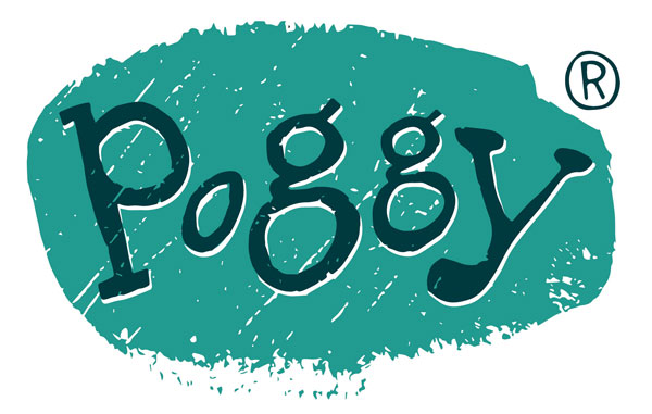 Poggy logo, designed by Farrows Creative